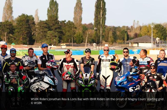 WSBK riders Rea Baz with IBHR riders